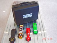 case and pinewood derby track